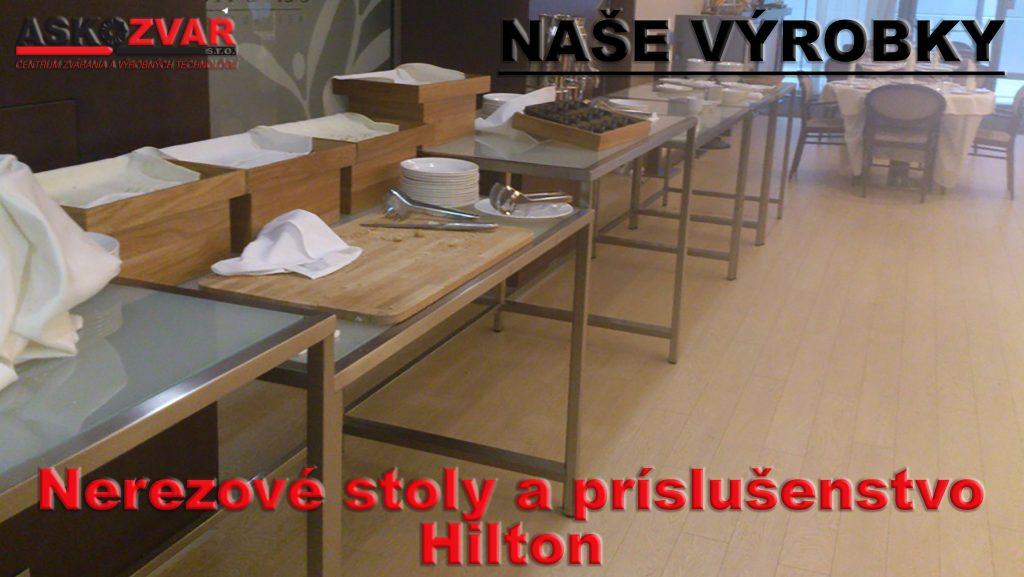 Nerezové stoly a príslušenstvo- Hilton