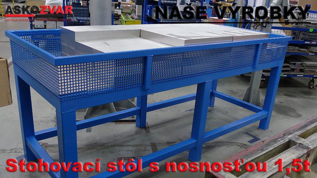 Stohovací stôl s nosnosťou 1,5 tony